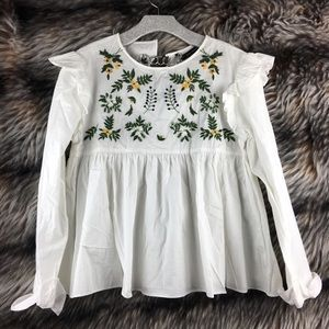 Trafuluc Collection Peasant Blouse Top Sewn A11